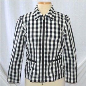 Ralph Lauren Black & White Checkered Rain Coat XL